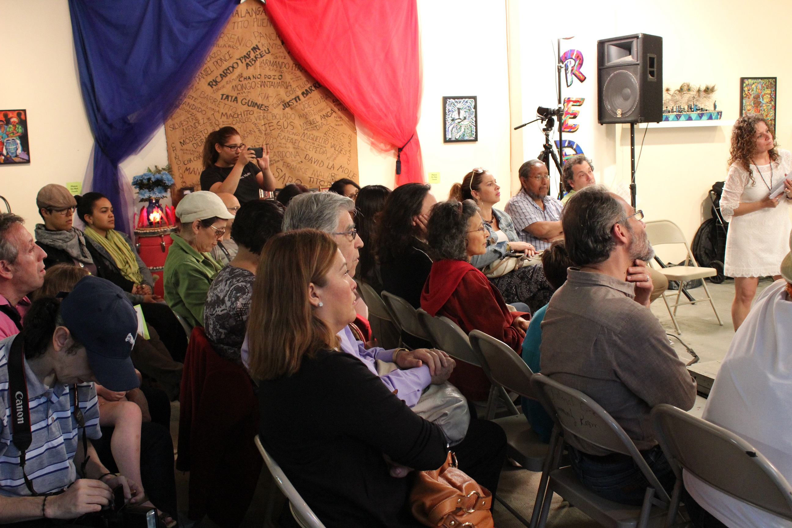 Crowd at Bronx Music Heritage Center lab.