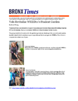 06-04-2017 Bronx Times_Volunteers Revitalize UH Garden