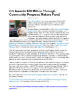 04-26-2018 Philanthropy News_Citi Foundation Announces Recipients of Community Progress Makers