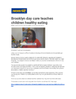 06-29-2018 News 12 Brooklyn_Brooklyn daycare teaches children about healthy eating