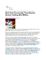 10-19-2019 PND_New York Community Trust Awards Grants Totaling 8.2 Million